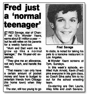 Fred just a 'normal' teenager
